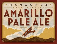 Hangar 24 Craft Brewery Amarillo Pale Ale Label #packaging #beer #label #bottle