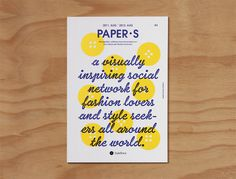 Paper S, a documentary book for Style Share #poster #typography