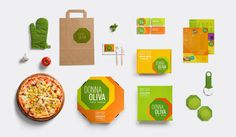 #pizza #pizzeria #packaging #package #pack #green #brazil #megalo #brand #identity #vusal identity #logo #mockup