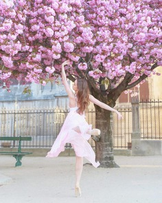 Dancing Ballerinas in the Streets of Paris by Magdalena Martin