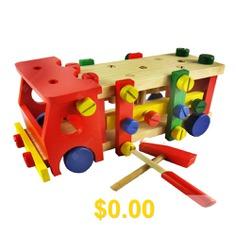 Knocking #Ball #Screw #Car #Hitting #Piling #Table #Knocking #Table #Game #Nut #Disassembly #Car #Children #DIY #Toys #- #TYPE #B: #KNOCKING #SCREW #CAR