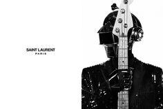 Daft Punk for Saint Laurent Paris #punk #rebrand #daft #saint #fashion #laurent