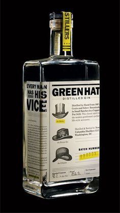 A New Green Hat in Town: DC's First Microdistillery | Food #packaging #alcohol #branding