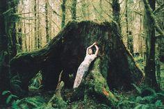 Photography by Amanda White I Art Sponge #white #hoh #rainforest #amanda #photography #nature #fashion #dress #moss