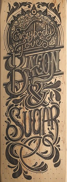 bacon and sugar lettering