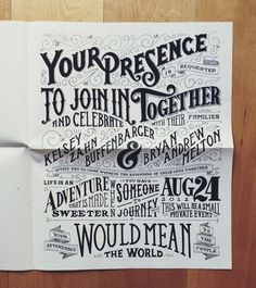 .... #type #wedding #invite