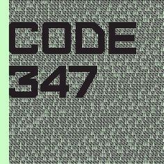 Cover for music album Code347 #cover #music #rap #code347