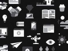 Dribbble - A Whole Lot of Icons by Colin Miller #miller #colin #illustration #icons