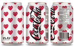 Léa et Irina » COCA-COLA X PLAY COMME DES GARÇONS #packaging #drink #branding