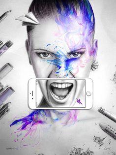 SILENT SCREAM • COSMOSYS XVII • α & Ω #inspiration #illustration #portrait #art