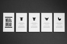 Graphic-ExchanGE - a selection of graphic projects #business #stationary #logo #identity #meatbread