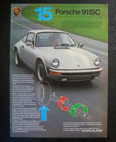 1980s Vintage Porsche Advertising