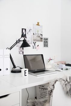 LITTLE PINK DO TO #white #office #home #desk #workspace