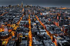 New York City at night by Mihai Andritoiu