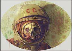 Painting1 #skull #diver #astronaut