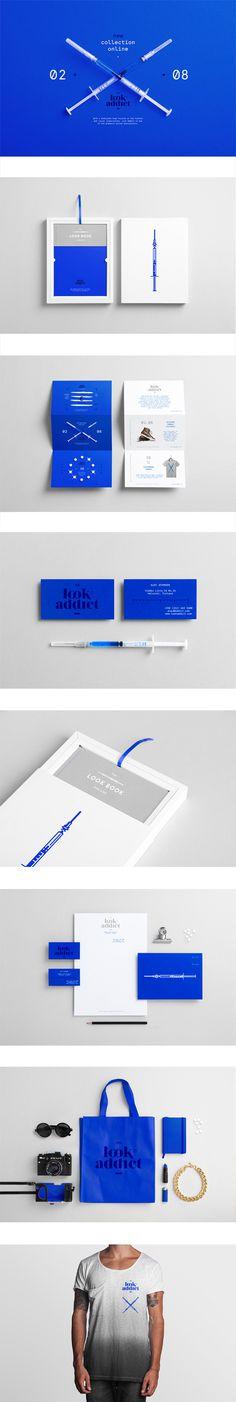 Varia — Look Addict — NOEEKO #branding #print #identity #stationery #blue