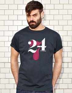 NATRI - 24/7- dark grey t-shirt - men: twenty-four-seven - eight to eight #modern #print #design #shirt #minimal #fashion #type #typography