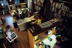 Interior of Lubalin, Peckolick Associates. In a converted firehouse.   Flickr - Photo Sharing! #associates #peckolick #lubalin #interiors #studio