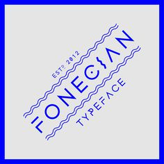 Fonecian Typeface on Behance #typeface