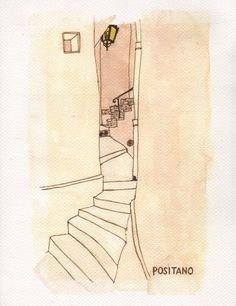 Stampa — Victoria Behm - Positano #illustration #artist