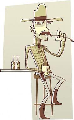 cowboy-illustration.jpg 978×1,594 pixels #illustration #cowboy