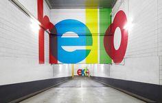 QV Carpark #avant garde #wayfinding #color #colour #bold #carpark #award winning