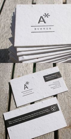 31 Creative Business Card Designs for Your Inspiration - You The Designer | You The Designer #business #card #design #seed #paper