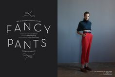 Miss Moss : Fancy Pants; curved type #fashion