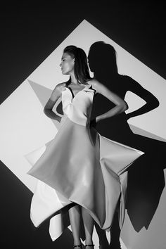 Dennis Andrianopoulos #white #& #geometric #black #dress #photography #boubouli #couture #haute #euangelia