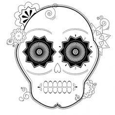 Flickr: Your Photostream #illustrator #sugar #geometric #de #cinco #mayo #skull #flowers