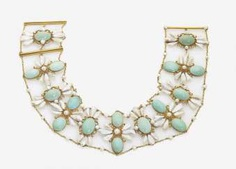 COLLIER DE CHIEN WITH PEARLS AND TURQUOISE