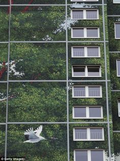 This Could Be The World's Largest Mural | Hi Fructose Magazine #crane #trees #mural