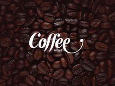 Coffee Home logo wordmark #coffee #logo #typo #bean #store