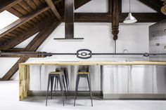 Adaptation of an attic space for summer #industrialdesign