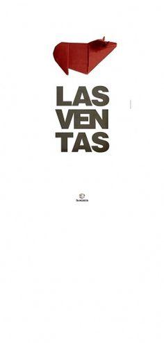 Cartel Las Ventas | Sublima Comunicación #ventas #sublima #origami #poster #bullfight #helvetica #bull #toros