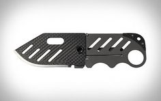 Creditor Carbon Fiber Money Clip Knife | Uncrate #design #clip #industrial #knife #money