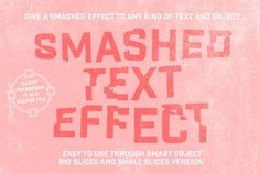 Smashed Text Effect - Actions - 1