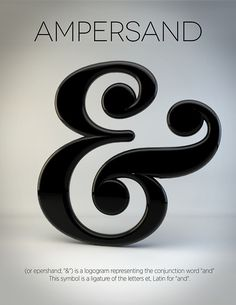 Ampersand Etymology #ampersand #3d #and #typography