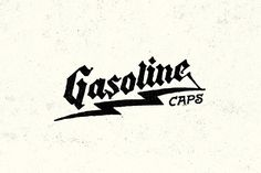 Gasoline Caps | Yondr, Nathan Yoder #hand drawn #typography #lightning bolt