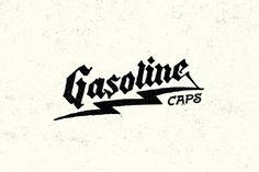 Gasoline Caps | Yondr, Nathan Yoder #hand drawn #typography #lightning bolt