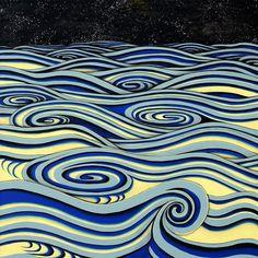 Yuki Ideguchi Paints Waves of Life and Death