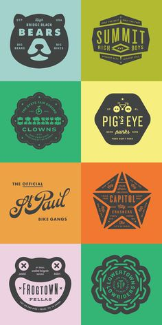 Badges - Allan Peters #badges #logos
