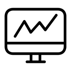 See more icon inspiration related to laptop, graph, chart, graphic, screen, computer, marketing, statistics, technology, stats, laptop computer, bar chart, bar graph, business and finance and seo and web on Flaticon.