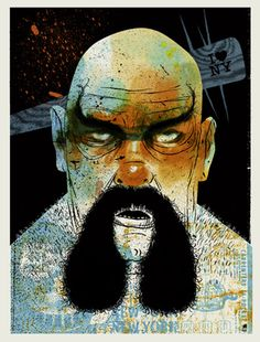 OX BAKER -ESCAPE FROM NEW YORK | Limited Edition Art Posters Archives #studios #strong #baker #robert #ox #print #lee #methane #mustache #screen #illustration #art #york #man #new
