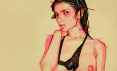 Pinups (1st Series) | rafajenn.com #pencil #sketch