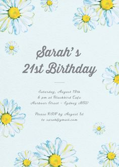 Blissful Birthday - Birthday Invitations #birthday #invitation #birthdayinvitation #paper #cards #digitalcard #design #print #digitalprint