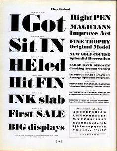 Ultra Bodoni type specimen. #type #specimen #typography