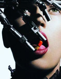 OTAKU GANGSTA #woman #robotic #pill #medical #arm
