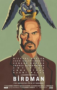 Birdman Movie Poster (2014) #illustration #design #graphic #poster