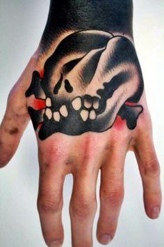 """YIMMY'S YAYOâ""""¢ #teeth #neo #school #black #tatoo #skull #hand"""